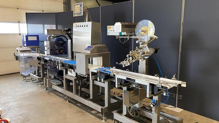 Used Mettler Toledo price-weighing and labelling line