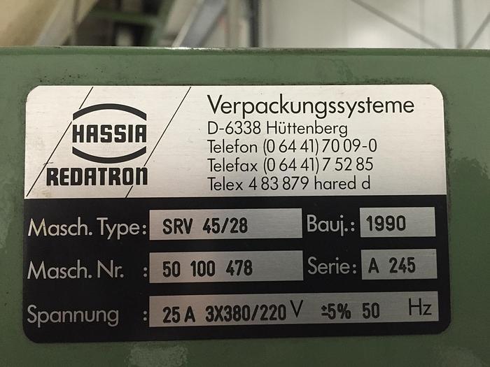 1990 Hassia vertikale Schlauchbeutelmaschine Wipperfürth SRV 4528