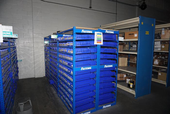 Used Fastenal Storage Bins  for  Spare Parts