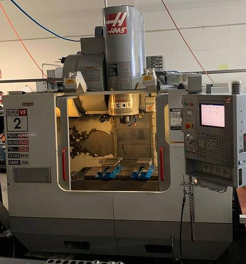 Used HAAS VF2SS CNC MILL 204