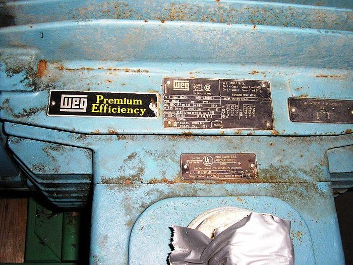 60 HP. Used Vaughn Belt Driven Pump Model #H8M10: