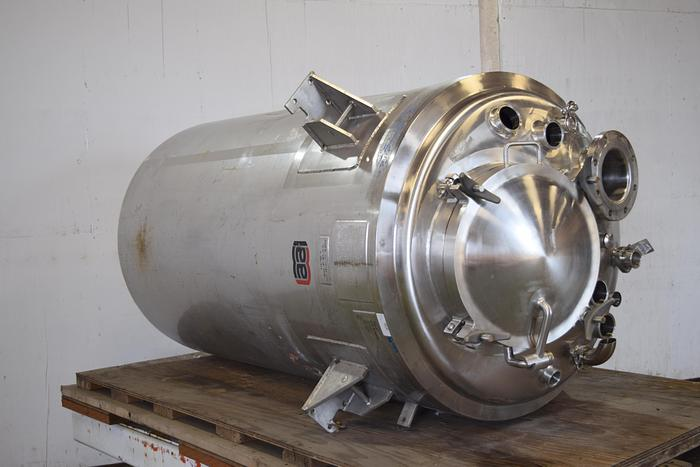 Used 321 gallon stainless jacketed vessel, used stainless jacketed tank