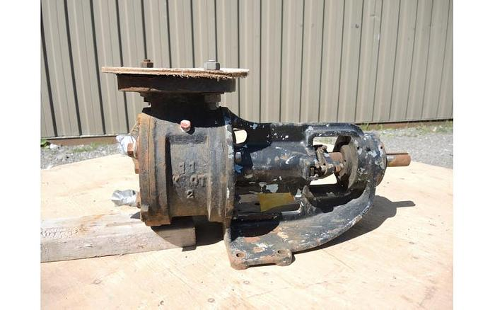 """USED GEAR PUMP, 2"""" X 2"""" INLET & OUTLET, CAST IRON, JACKETED"""