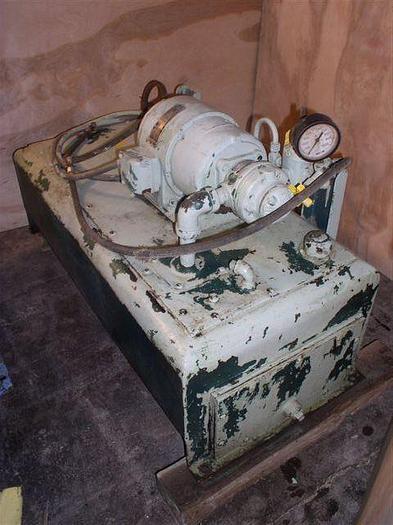 Used 1.5 HP Gerotor Hydraulic Unit; 50 gal Tank