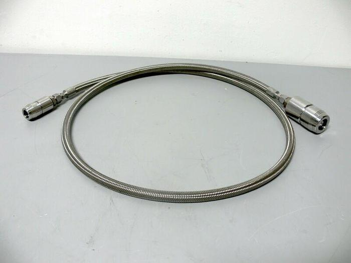 """Used 75"""" Stainless Steel Braided Hose w/ Swagelok 316 QTM2 & QTM4 Quick Connectors"""