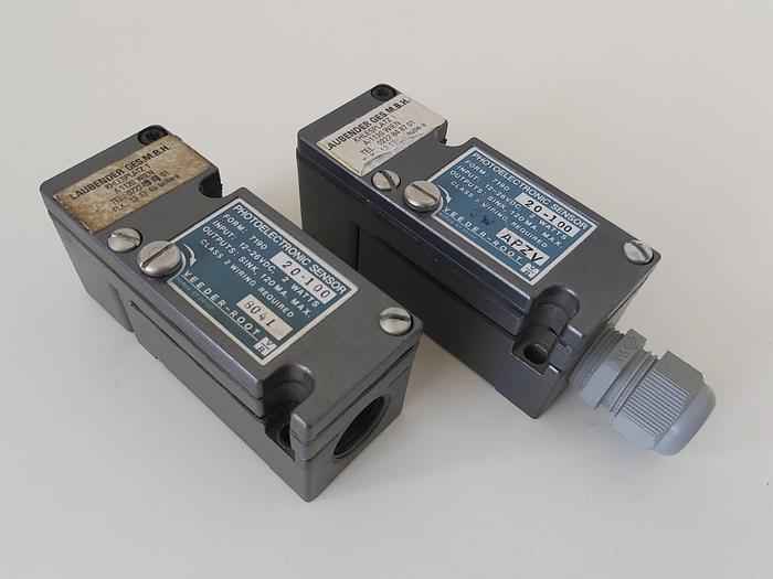 Gebraucht 2 Stück Photoelektronik Sensoren, 7190 20-100, Veeder & Root gebraucht