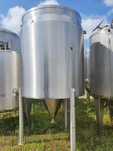 Used 2,750 Litre Stainless Steel Tank with Conical Base