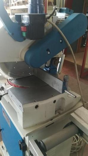 MITRE SAW OMGA T50 complete of roller conveyor whit measurement