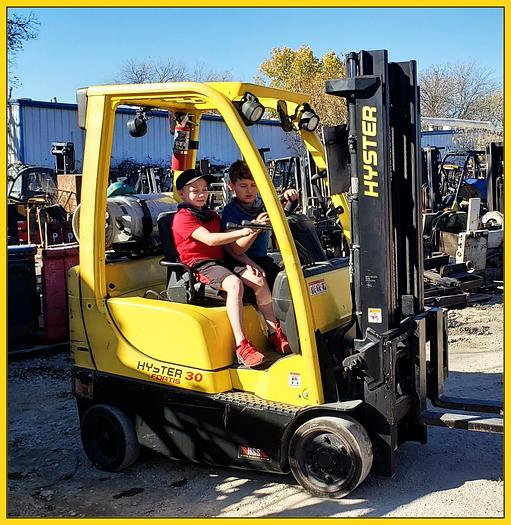 """Used 2014 Hyster S30FT 3000# Capacity Forklift, 2 Stage 127""""  Mast"""
