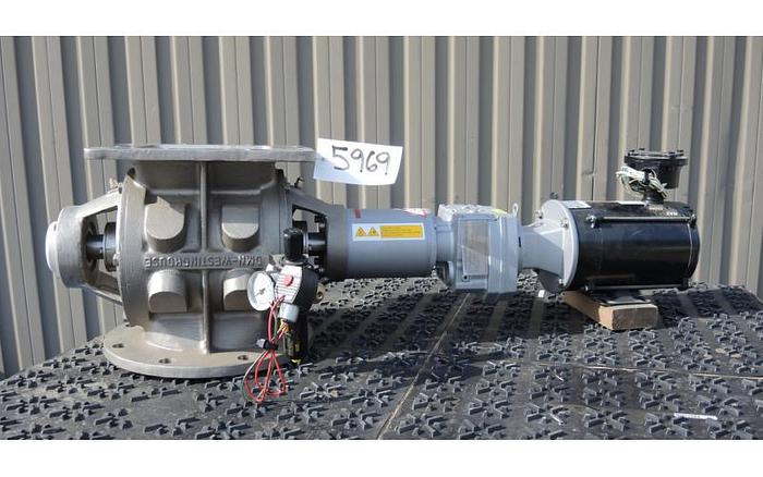 "Used USED ROTARY AIR LOCK VALVE, SIZE: 8"" X 8"", DMN WESTINGHOUSE"