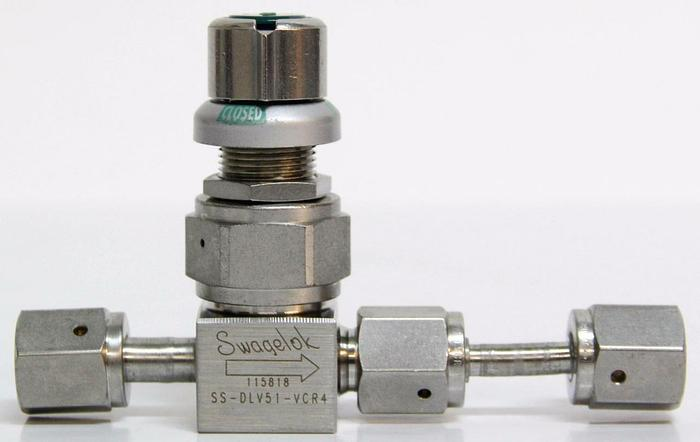 Used Swagelok SS-DLV51-VCR4 High Purity High Pressure Diaphragm Valve 3500PSI (4464)