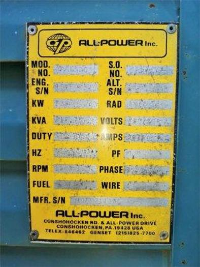 1996 ALL POWER AP655DG