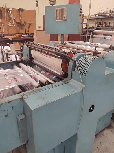 Used RoAn 225 Bag Machine with Unwind, Electric Eye Attachment, 3 Slit Sealers, and Rewind