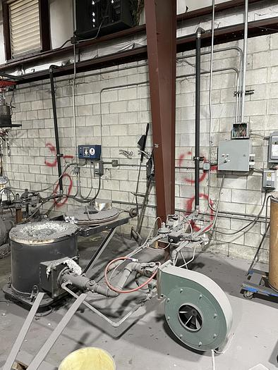 Used LINDBERG CRUCIBLE STATIONARY ALUMINUM GAS FIRED FURNACE