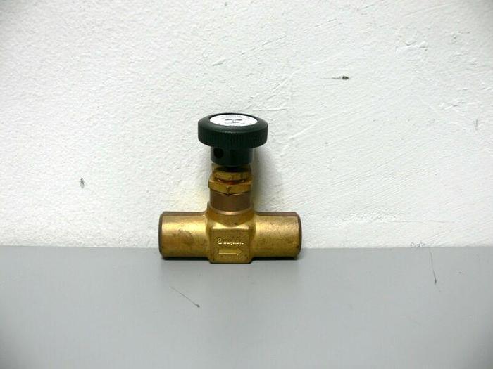 Used Swagelok JN Brass 2-way Bonnet Needle Valve