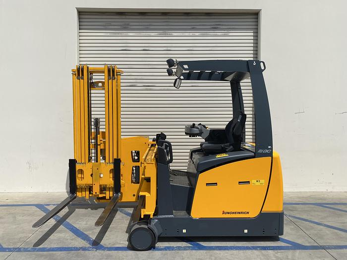 Used Jungheinrich  EFX 413 Electric Forklift Front Seat/tri-Lateral Stacker w/ Charger
