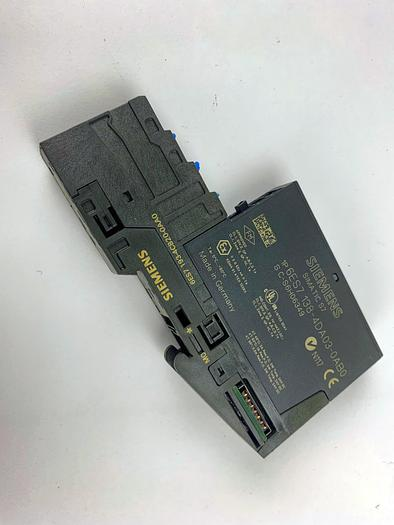 Used SIEMENS 6ES7 138-4DA03-0AB0 Electronics Module with Terminal (6ES7 193-4CB20-0AA0)