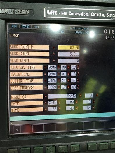 2002 Mori Seiki NH-5000 Horizontal Machining Center with 120 ATC