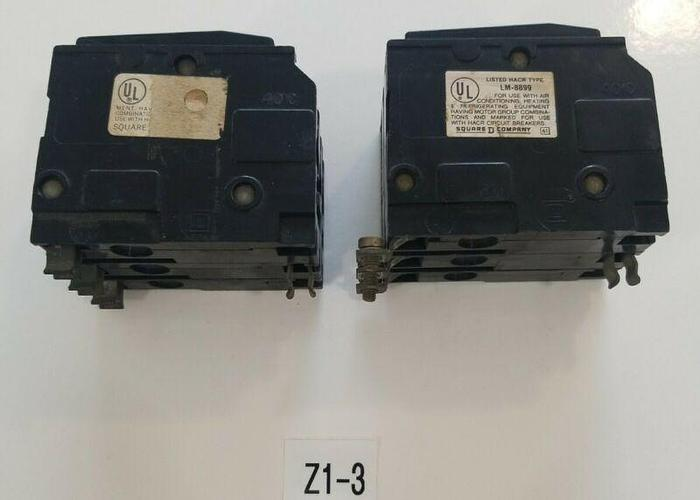 Used *PREOWNED* SQUARE D 20 AMP 3 POLE CIRCUIT BREAKERS (1) LM-8899 (1)?