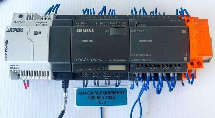 Used Siemens Logo! 12/24 DM16 24R Phoenix Contact Step Power, E. Dold & Sohn (7630) W