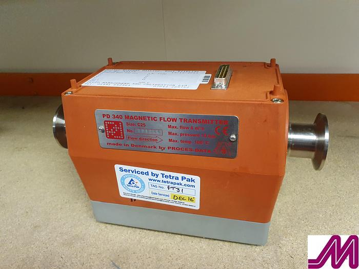 Used Proces-data  PD 340 Size C51 Magnetic Flow Transmitter