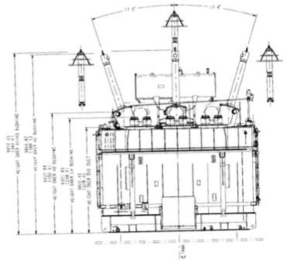 2016 ABB 975 MVA GSU Shell Type Transformer