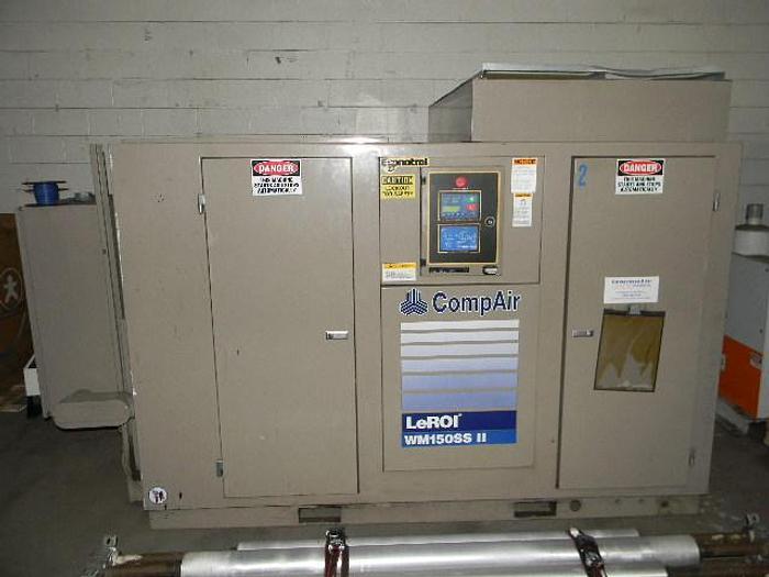 Used 150HP Leroi CompAir, Model WM150 SS 11 Screw Compressor
