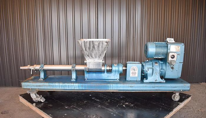 """Used USED MOYNO PROGRESSIVE CAVITY PUMP, 3"""" OUTLET, STAINLESS STEEL"""
