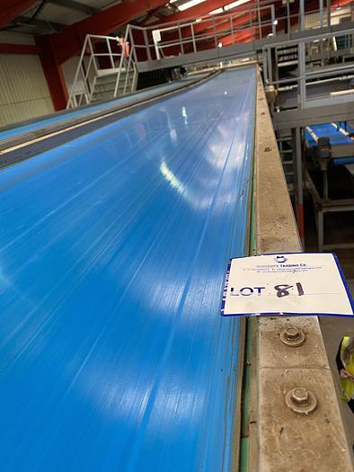 Used Steel Conveyor belt 16m L 1.15m W