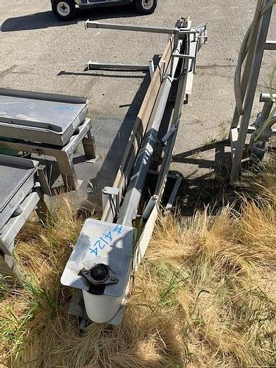 "Used Sanitary V-Belt Incline Conveyor 13' Long x 12"" Wide"