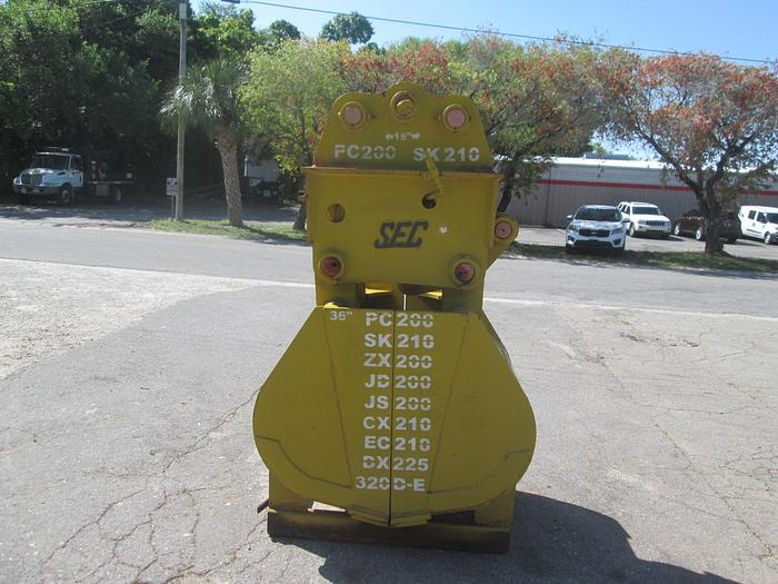 "Used New 36"" SEC Clam Shell Grapple Bucket"