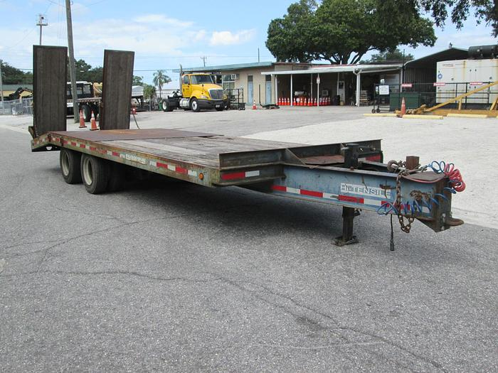Used 1997 Evaco Trailer- 20 ton equipment trailer