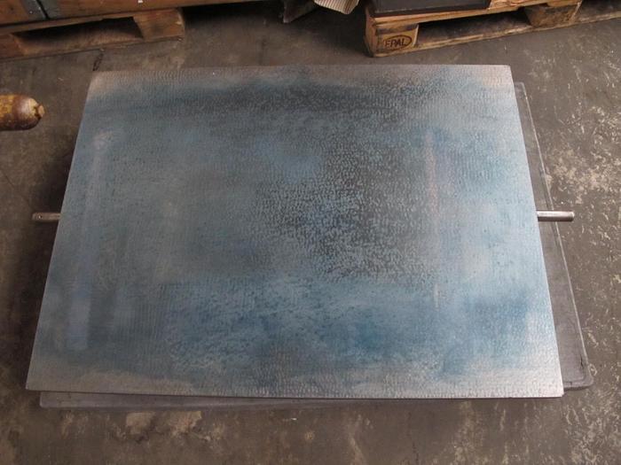 Gebraucht Anreissplatte Stahl Messplatte Johann Fischer Tuschierplatte