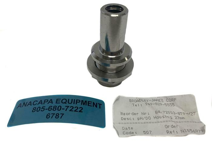 Used Broadley-James B4-72003-8T9-M27  pH/DO Housing 27mm Applikon (6787)W