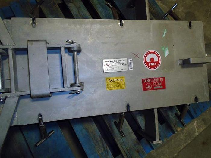 USED 8'' INLINE MAGNET, STAINLESS STEEL