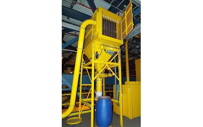 Used USED DUST COLLECTOR, PULSE AIR, 1600 CFM, 210 SQ. FT