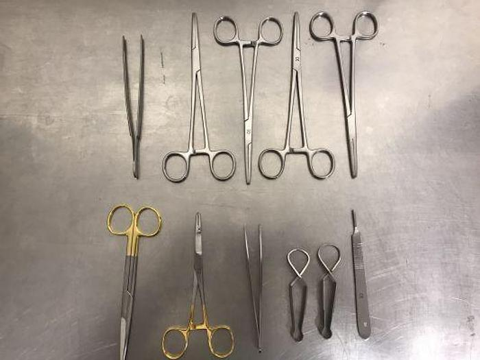 Used Veterinary Instrument Set Suture Tungsten Carbide
