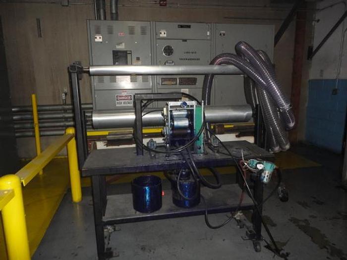 "Used 6"" Bellmark Printer on Stand"