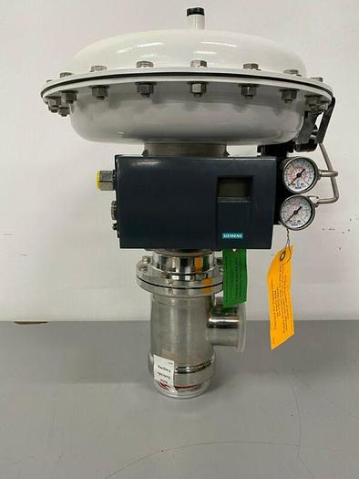 """Used Steriflow 978SP 3"""" Sanitary Control Valve w/ Siemens PS2 HART Positioner"""