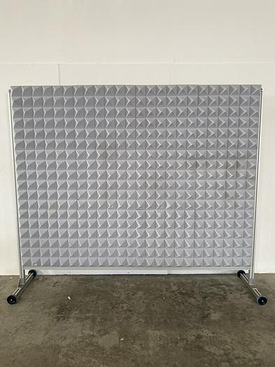 """Used Mobile Acoustic 72"""" x 95"""" Foam Board on Wheels"""