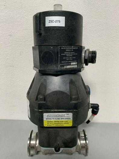 "Used ITT Pure-Flo A209 316L Spring-Close Diaphragm Valve w/ 2"" Sanitary Fitting"