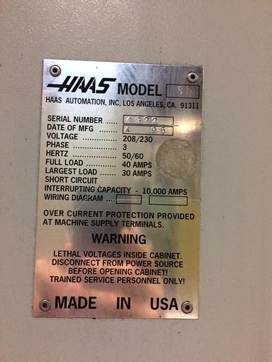 HAAS VF-3 CNC VMC W/ 4TH AXIS ROTARY