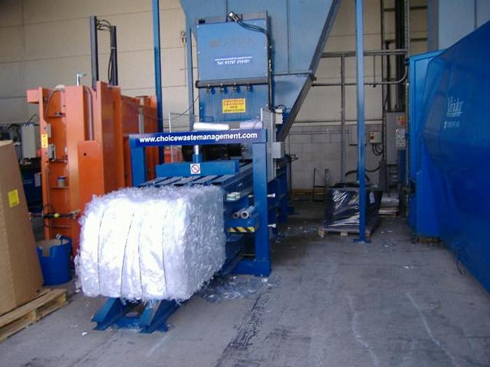 Used 2005 Orwak Automatic Baler 2040 AT complete with in floor conveyor
