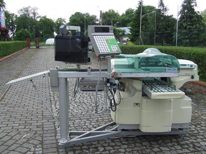 """Used Maszyna pakująca na tackach w folię rozciągliwą z wagą i etykieciarką """"WALDYSA"""""""