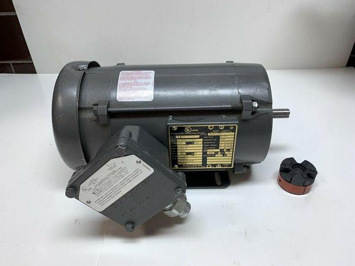 Used Baldor IDXM7006 AC Motor, 1/2HP, 1750RPM, 56C Frame 230/460V Hazardous Warranty