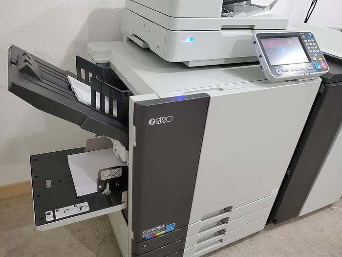 Riso ComColor GD7330 Full Color Inkjet Printer with Scanner and Booklet Maker Finisher