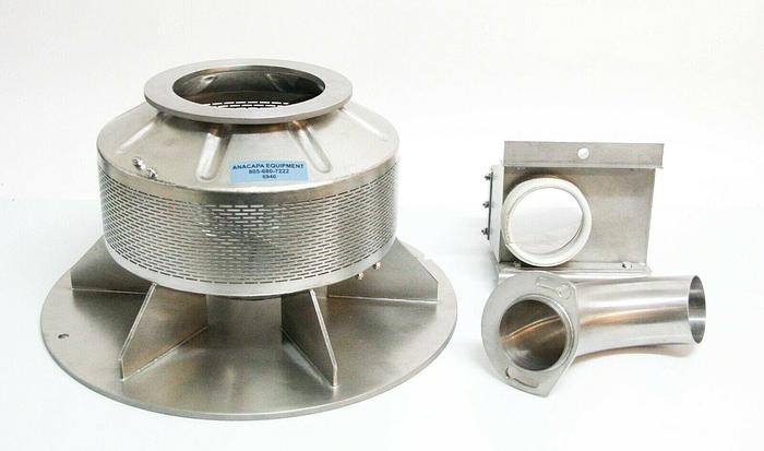 Used Freund Vector Perforated Coating Pan For Vector Hi-Coater LDCS Used (6940)