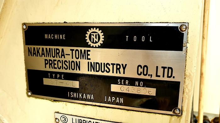 NAKAMURA TOME SUPERTURN 4 CNC TURNING CENTER