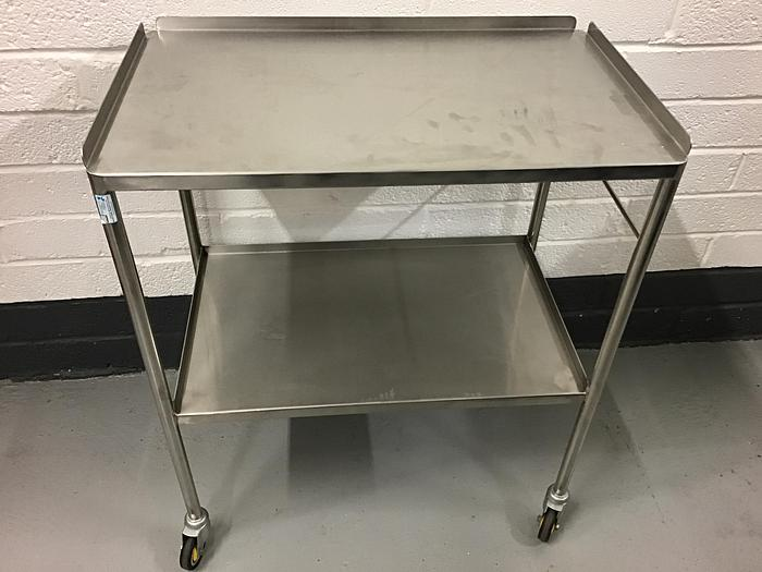Used Trolley stainless steel 2 shelves 750x450mm
