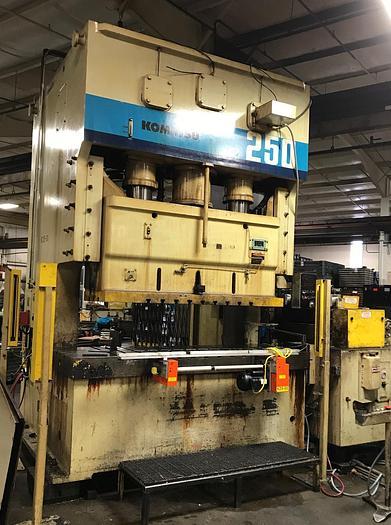 275 ton Komatsu 2pt. Gap Frame Press OBW250-3